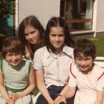 Sharon, Andrea e Caroline in compagnia di una cugina