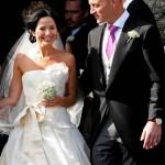 Gli sposi Andrea e Brett