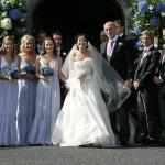 Gli sposi Andrea Corr and Brett Desmond ed i testimoni