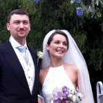 Gli sposi Sharon e Gavin